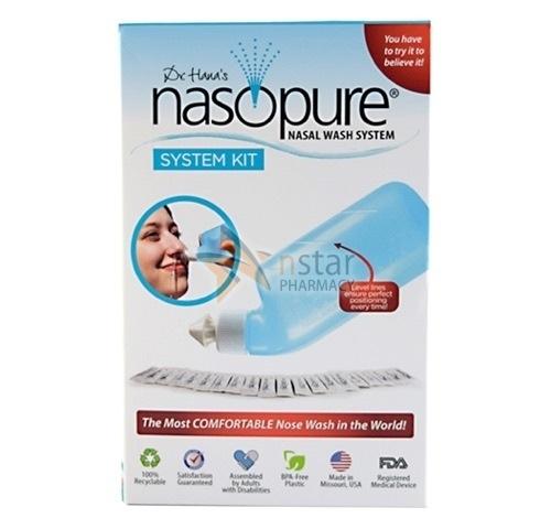 Pharmacy Nasopure System Kit Nasal Wash System Nstar